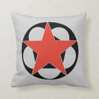 Almohada de tiro roja del pentáculo de la estrella