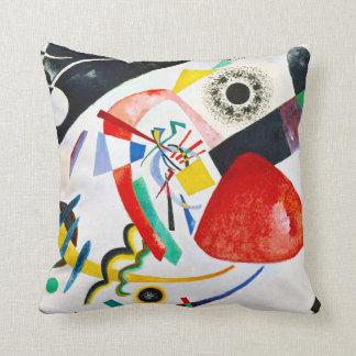 Almohada de tiro roja del punto de Kandinsky