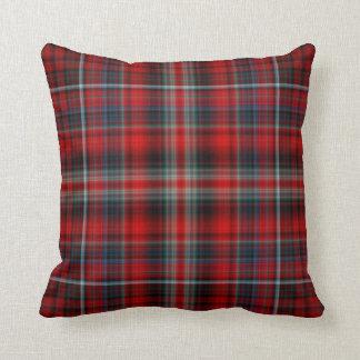 Almohada de tiro roja del tartán cojín decorativo