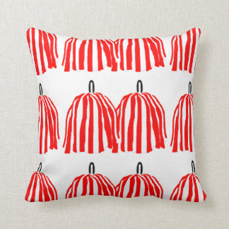 Almohada de tiro roja y blanca de Pom Pom