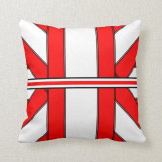 Almohada de tiro roja y blanca del Ribbonesque-Abr