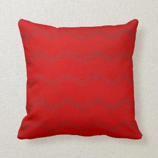 Almohada de tiro - rojo de Chevron