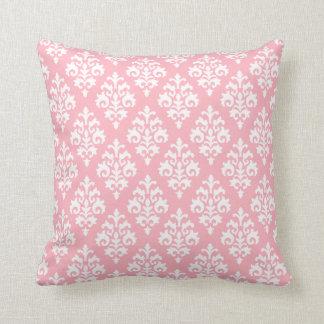 Almohada de tiro rosa clara y blanca moderna del