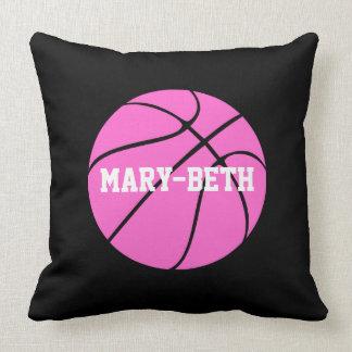 Almohada de tiro rosada de encargo del baloncesto