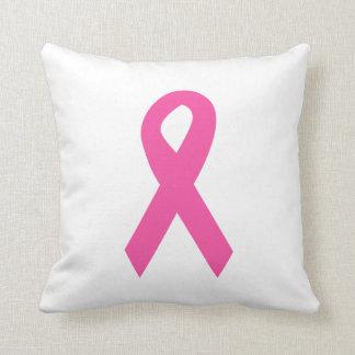 Almohada de tiro rosada de la cinta