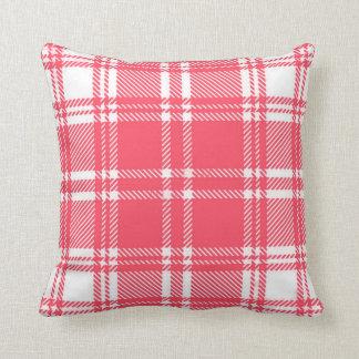 Almohada de tiro rosada de la franela de la tela