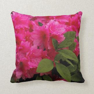 Almohada de tiro rosada de las azaleas