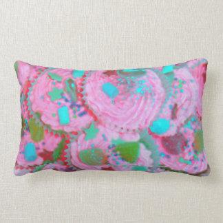 Almohada de tiro rosada de las magdalenas cojín lumbar