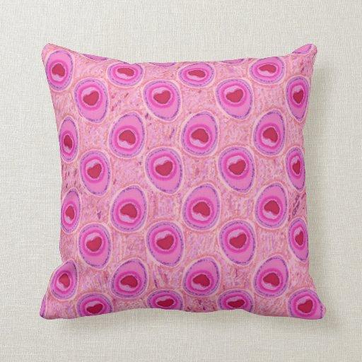 Almohada de tiro rosada de Mojo del modelo del
