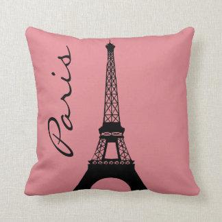Almohada de tiro rosada de París de la torre Cojín Decorativo