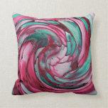 Almohada de tiro rosada del arte abstracto del tru