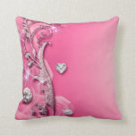 Almohada de tiro rosada elegante de los diamantes