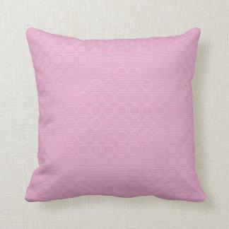 Almohada de tiro rosada y de plata