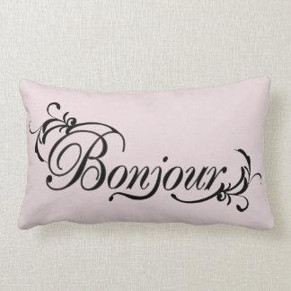 Almohada de tiro rosada y negra de Bonjour Cojín Lumbar