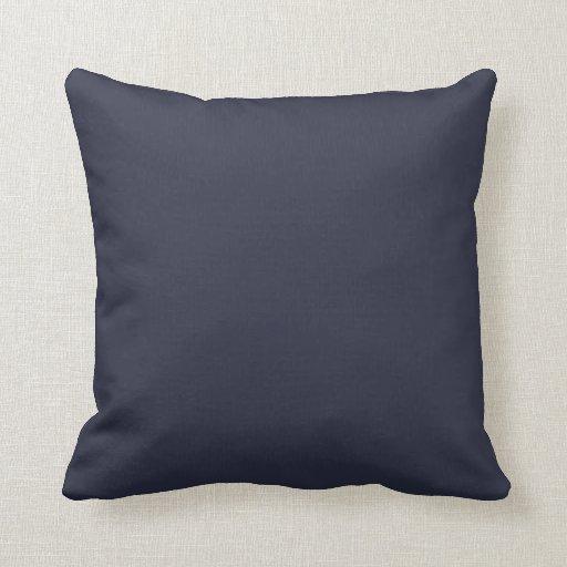Almohada de tiro sólida de los azules marinos