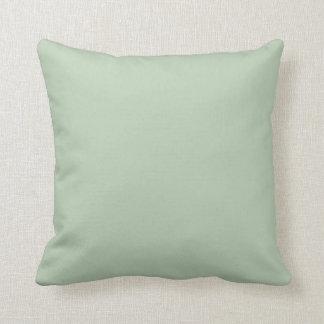 Almohada de tiro sólida del acento de la verde sal