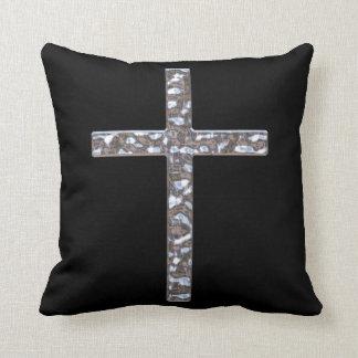 Almohada de tiro sólida del crucifijo del cromo