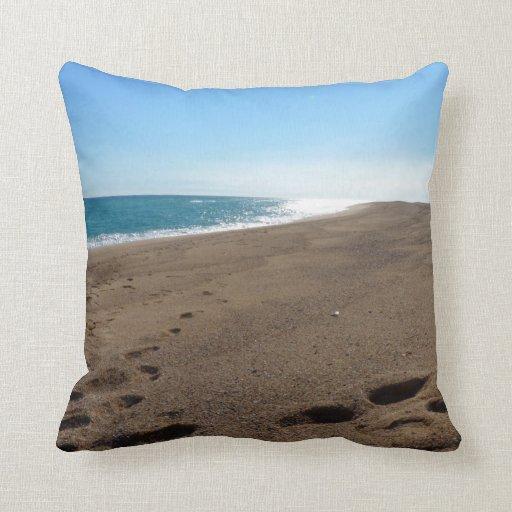 Almohada de tiro temática de la playa