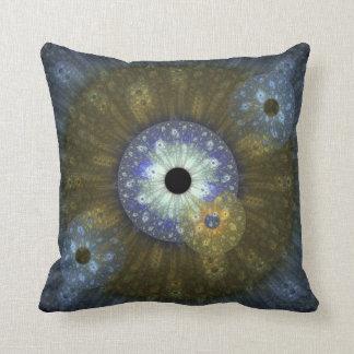 Almohada de tiro terrosa del fractal cojín decorativo