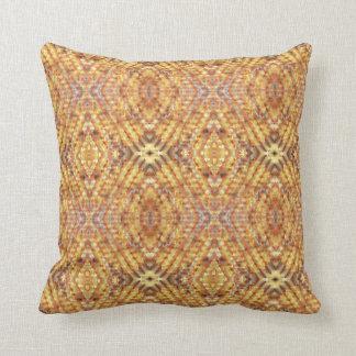 Almohada de tiro texturizada del diamante del oro