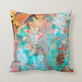 almohada de tiro texturizada floral sucia