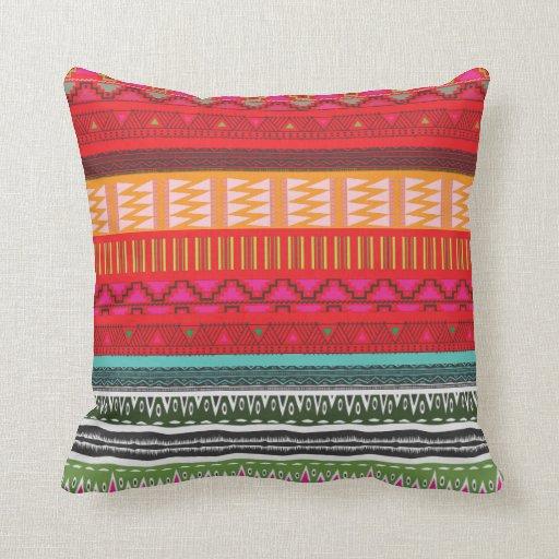 Almohada de tiro tribal azteca decorativa