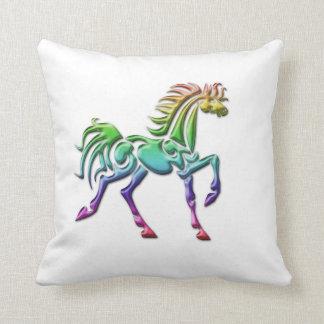 Almohada de tiro tribal del caballo cojín decorativo