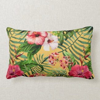 Almohada de tiro tropical de la impresión floral