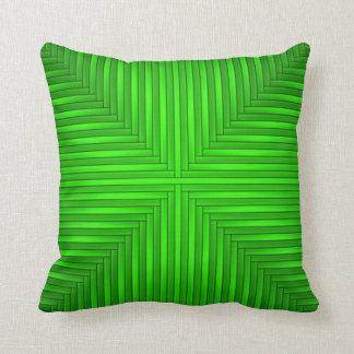 Almohada de tiro verde