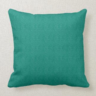 Almohada de tiro verde del algodón de las texturas