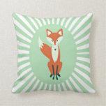 Almohada de tiro verde del Fox del trullo
