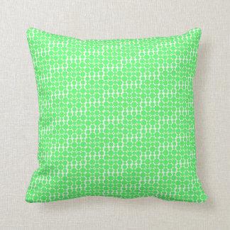 Almohada de tiro verde del modelo de los círculos