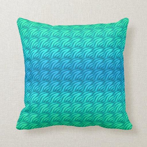 Almohada de tiro verde y azul del modelo