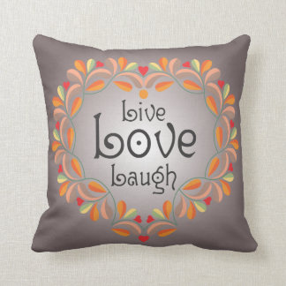 Almohada de tiro viva de la risa del amor