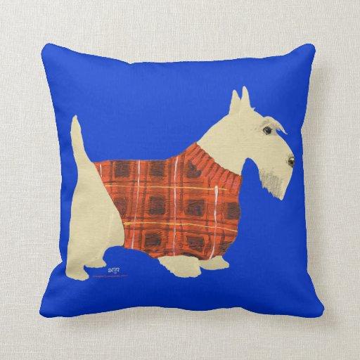 Almohada de trigo del suéter de Terrier del escocé