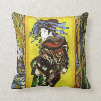 Almohada de Van Gogh Japonaiserie Oiran Cojín Decorativo