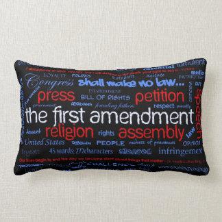 """Almohada de """"Wordle"""" de la Primera Enmienda"""