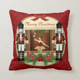 Almohada decorativa de la bailarina del cascanuece
