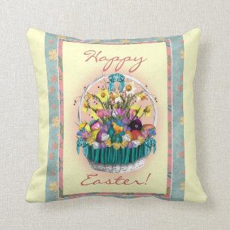 Almohada decorativa de la cesta feliz de Pascua