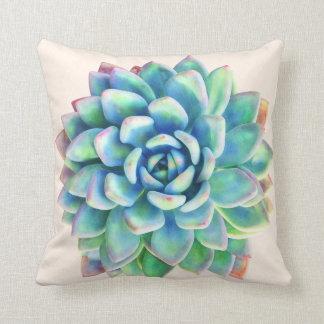 Almohada decorativa de la impresión suculenta