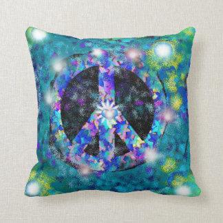 Almohada decorativa de la inspiración de la paz