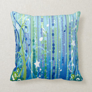 Almohada decorativa de la música azul