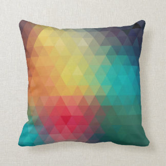 Almohada decorativa de la prisma el | del arte del
