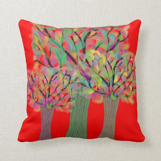 Almohada decorativa del árbol artsy caprichoso