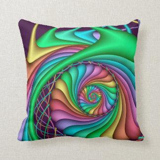 Almohada decorativa del espiral del arco iris