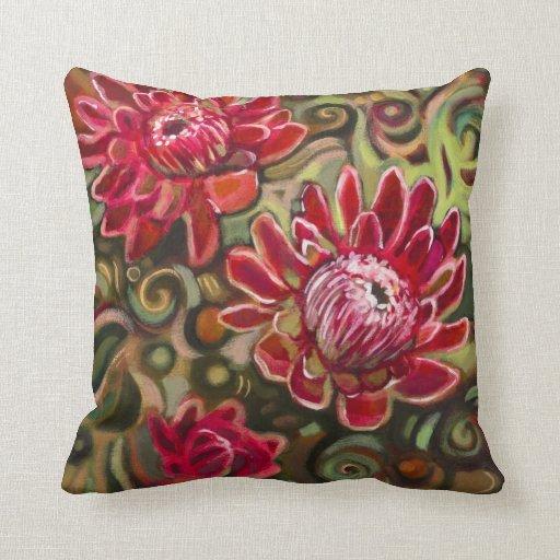 Almohada decorativa del estampado de flores tropic