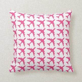Almohada decorativa del modelo blanco rosado del