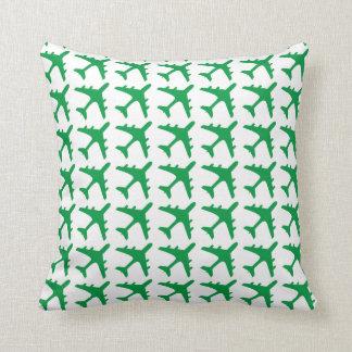 Almohada decorativa del modelo blanco verde del