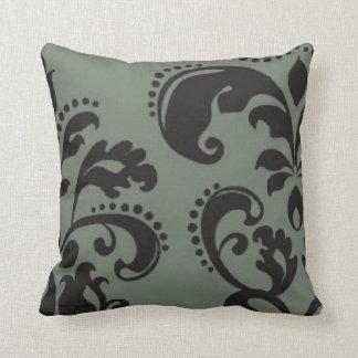 Almohada decorativa del remolino del gris de plata