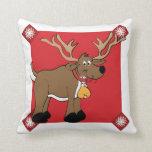 Almohada decorativa del reno del navidad